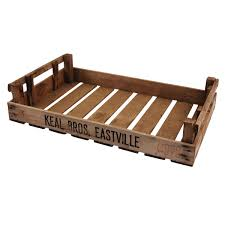 fabulous vintage rustic wooden industrial box tray view larger