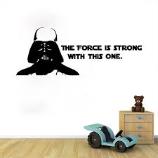 star wars wall stickers poster the force is strong wall art stickers decals for kids room on star wars wall art stickers with star wars wall stickers poster the force is strong wall art stickers
