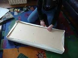 how to re cover a bench seat part 1