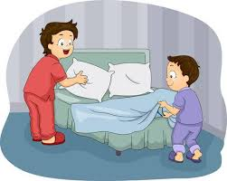 make bed clipart. Beautiful Bed Illustration Of Two Little Boys Making Their Bed And Make Clipart