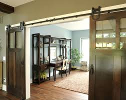 traditional home office falls oh glass barn doors