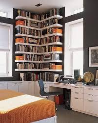 custom bookshelves dark walls
