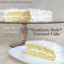 Low Fat Low Calorie Southern Style Coconut Cake No Weird Diet