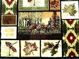 deer area rugs wild life medium size of rustic lodge style cabin bear mountain wolf or