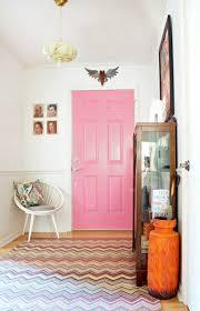 pink painted interior door
