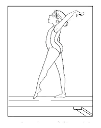 Realistic Gymnastics Coloring Page Printable Pages Beam Charming