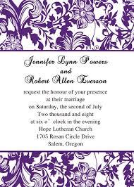 Wedding Invitations Templates Purple Basic Wedding Invitation Wording Elegantweddinginvites Com Blog