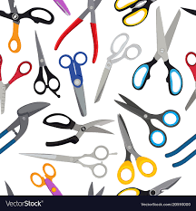 Pattern Scissors Gorgeous Colored Scissors Pattern Royalty Free Vector Image