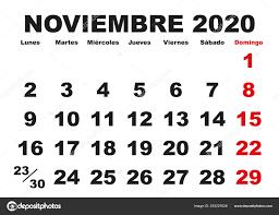 Calendario Noviembre 2020 Para Imprimir