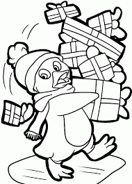 Small Picture Sweet Looking Christmas Penguin Coloring Pages Christmas Penguin