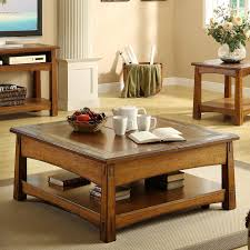 riverside craftsman home square lift top cocktail table americana oak com