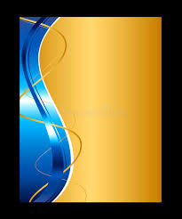 Blue And Gold Design Blue And Gold Abstract Background Template For Website