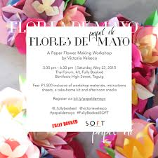 Flores De Mayo Design School Of Fun Things Flores De Papel De Mayo With Victoria