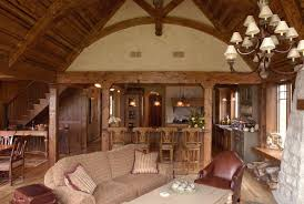 Featured Image of Cozy Craftsman Living Room Features Exposed Beam Ceiling