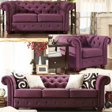 Tufted Living Room Set Love This Plum Tufted Sofa Chesterfield Living Room Set Great