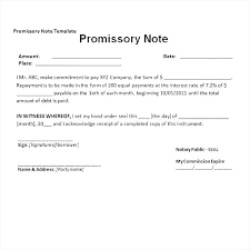 Promissory Note Templates Word Unsecured Promissory Note Template Word Elegant Promissory