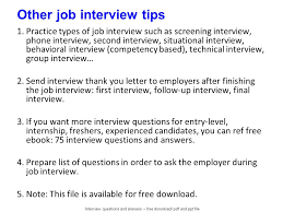 Questions For Second Interview Internet Technician In This File You Can Ref All Information For