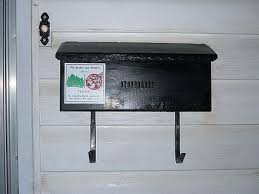 Residential mailboxes side view Parcel An Attached Or Wallmount Letterbox With Hook Underneath For Newspapers Wikiwand Letter Box Wikiwand