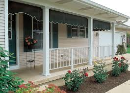 fluted aluminum columns and railing on porch