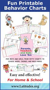 Printable Behavior Charts For Parents Free Printable Behavior Charts For Home And School Ot