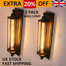 details about 2pcs industrial long wall lamp retro wall light rustic wall sconce vintage light
