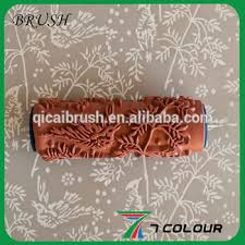 Pattern Roller Delectable Texture Paint Roller BrushPaint Roller ToolsRubber Pattern Roller