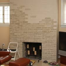 the gallery for painted brick fireplace wall