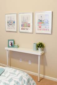 Beautiful Simple Ikea Hack: Narrow Console Table   IKEA Hack Your Crafting Space   51  Craft Room Storage DIY Projects