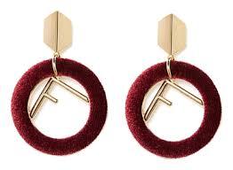 Купить бордовые серьги f <b>Lisa Smith</b>, цена на Randewoo.ru