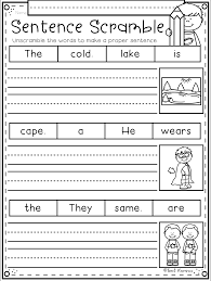 Cut the words out and put them in the correct gaps in the sentences. An Awesome Way To Practice Writing Sentences My Students Love Sentence Scramble So Many Phonic Sentences Kindergarten Kindergarten Writing Writing Worksheets