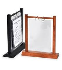 Restaurant Table Top Display Stands AFrame Table Tents standard available in stock color black for 100 21