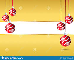 Blank Christmas Background Yellow Christmas Background Hanging Red Ribbon Ball Decoration In