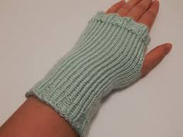 Fingerless Gloves Knitting Pattern Circular Needles