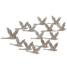 flying geese wall art metal
