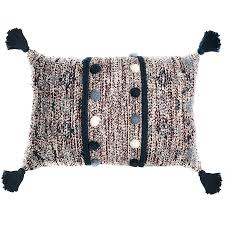 <b>Подушка</b> Tkano <b>декоративная с помпонами</b> и кисточками Ethnic ...