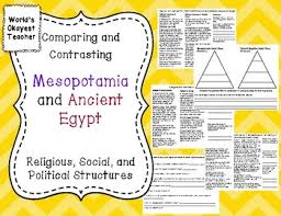 Compare And Contrast Mesopotamia And Egypt Compare And Contrast Ancient Civilizations Teaching Resources