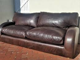 stunning genuine kudu leather couch with full leather top and bottom seating cushions 2 available