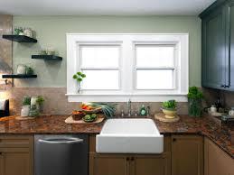 No Window Over Kitchen Sink Kitchen Window Treatment Valances Hgtv Pictures Ideas Hgtv