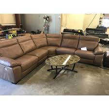 leather sectional couches.  Couches Gennaro 5pc Leather Sectional Sofa With 3 Power Recliners  Headrest Intended Couches C