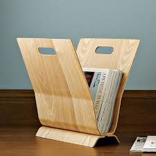 Pretty Magazine Holders Magnificent Simple And Stylish Wood Magazine Holder