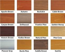 Sherwin Williams Stain Chart Log Cabin Stain Colors Escueladegerentes Co