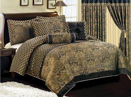 classic black and gold comforter sets queen luxurious bedding home design 3