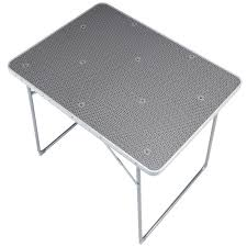 folding camping trekking table 4 person grey