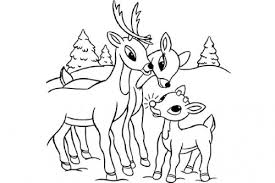 Download Printable Rudolph Coloring Pages Clipart Santa