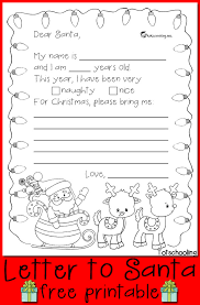 A simple coloring page for teaching colors. Free Letter To Santa Printable Totschooling Toddler Preschool Kindergarten Educational Printables