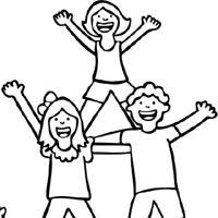 Small Picture Cheerleading Coloring Pages Surfnetkids