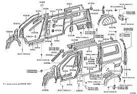 Side member toyota part list|jp carparts