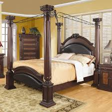King size 4 Poster Canopy Bed with Large Decorative Posts - Quality ...