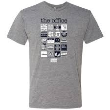 the office merchandise. The Office Quote Mash-Up Men\u0027s Tri-Blend Short Sleeve T-Shirt Merchandise O