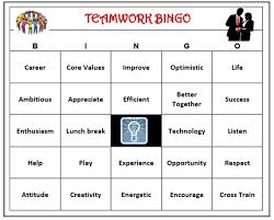 Office Bingo Teamwork Team Building Bingo Game Inspire Motivate Fun Etsy